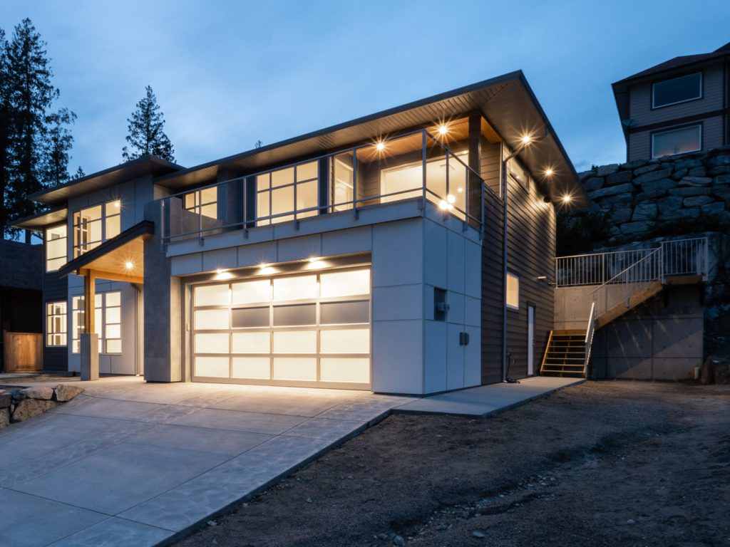 Exterior lighting, installed by Inline Electric, Sechelt Electricians